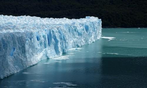 Zdjęcie ARGENTYNA / Patagonia-Park Narodowy Los Glaciares / lodowiec Perito Moreno / Chłodny profil