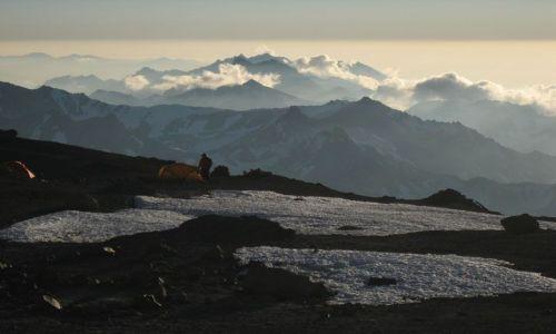 Zdjecie ARGENTYNA / Aconcagua / Aconcagua / Nocleg na Nido de Condores 5500m