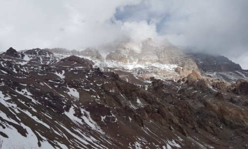 Zdjecie ARGENTYNA / Departamento Las Heras /  Leży w Andach Południowych, w Kordylierze Głównej / Aconcagua - Kamienny Strażnik 6960,8 m n.p.m