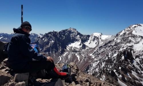 Zdjecie ARGENTYNA / Departamento Las Heras / Leży w Andach Południowych, w Kordylierze Głównej / Aklimatyzacja Cerro de Bonnete, ok. 5050m.