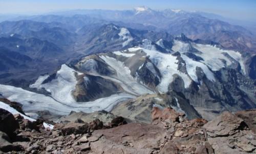 Zdjecie ARGENTYNA / Andy / Aconcagua 6962m / Andy ze szczytu Aconcagui