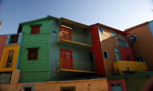 Zdjecie ARGENTYNA / Buenos Aires / La Boca / Magia kolorów