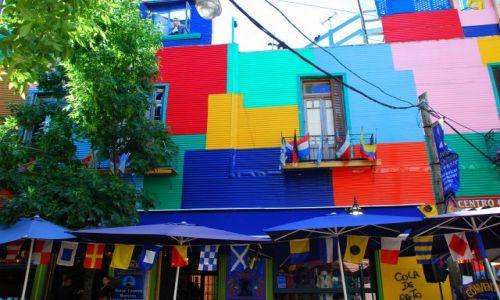 Zdjęcie ARGENTYNA / Buenos Aires / LaBoca / kolorowe dzielnice