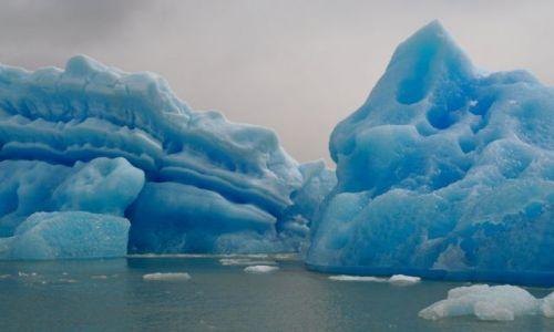 Zdjęcie ARGENTYNA / - / Półwysep Valdes / kolory lodu