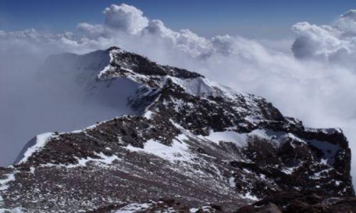 Zdjecie ARGENTYNA / - / Aconcagua / Grań pod szczytem