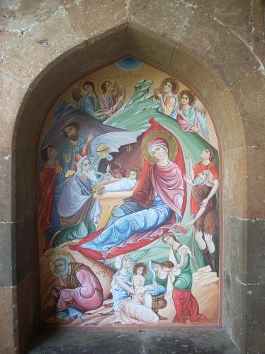Zdjęcia: Eczmiadzyn tzw. ormianski Watykan, Malowidła katedralne, ARMENIA