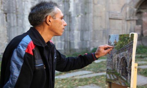 Zdjęcie ARMENIA / Lori Marz / Sanahin / Klasztor w Sanahin - olej