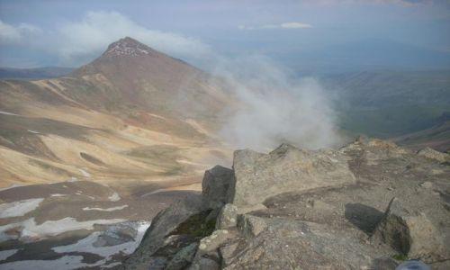 Zdjecie ARMENIA / brak / Wulkan Aragats (4090 m) najwyzsza gora Armenii / Chmurki z hrateru :)