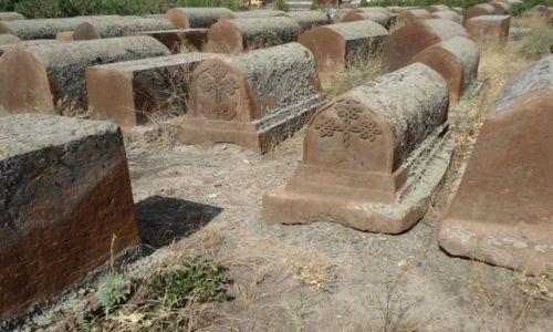 Zdjęcie ARMENIA / Armawir / Eczmiadzyn (Wagharszapat) / Stary cmentarz
