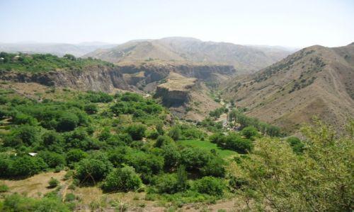 Zdjęcie ARMENIA / Kotajk / Garni / Panorama doliny Azat