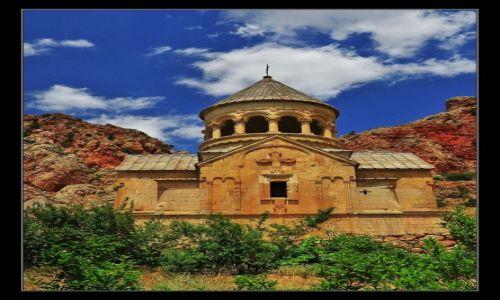 Zdjecie ARMENIA / Dolina rzeki Amaghu, prowincja Vayots Dzor / Noravank / Klasztor Noravank