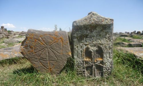 Zdjęcie ARMENIA / Gegharkunik / Noratus / Największe pole chaczkarów (2)