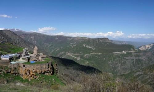 Zdjęcie ARMENIA / Sjunik / Tatew / Klasztor Tatew nad kanionem rzeki Worotan