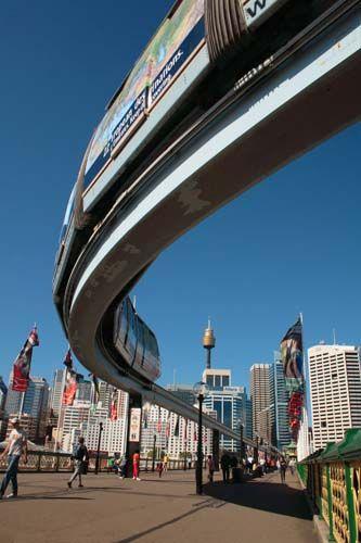 Zdjęcia: Sydney, Nowa Południowa Walia, Monorail, AUSTRALIA