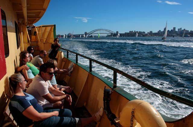 Zdjęcia: Sydney, Nowa Południowa Walia, Promem po zatoce, AUSTRALIA