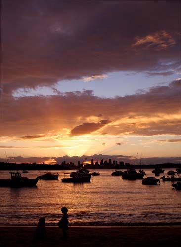 Zdjęcia: Sydney, Watsons Bay, Nowa Południowa Walia, Zachód słońca nad Sydney, AUSTRALIA