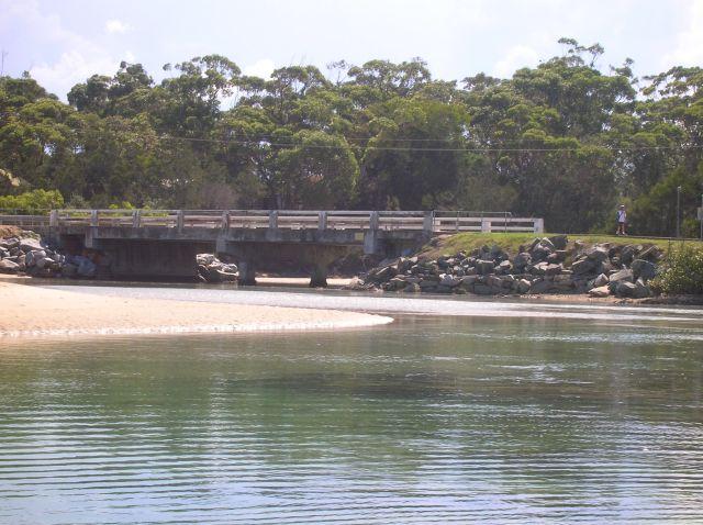 Zdjęcia: Broulee, NSW, Most w Broulee, nadmorska miejscowosc.., AUSTRALIA