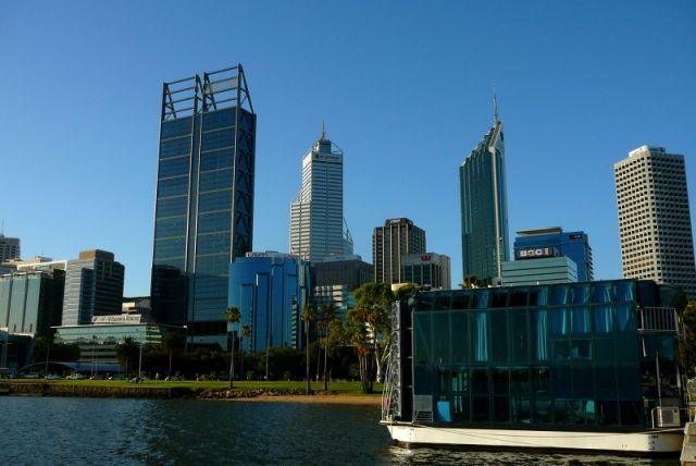 Zdjęcia: nadbrzeże, Perth, widok na śródmieście, AUSTRALIA