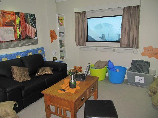 Zdjęcia: remiza, Perth, wnętrze schronu  przed cyklonem, AUSTRALIA