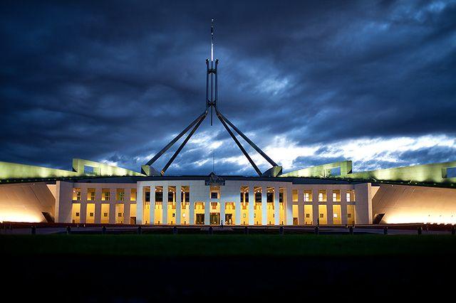Zdjęcia: Canberra, Capital Territory, budynek parlamentu australijskiego, AUSTRALIA