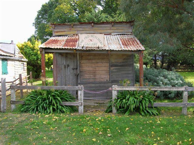 Zdjęcia: Nerriga, Wsch. Australia, Zabytkowa rzeznia z 18...w country town, AUSTRALIA
