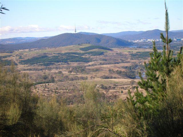 Zdjęcia: MT Stromlo, ACT, widok na gore Black Mountain, AUSTRALIA