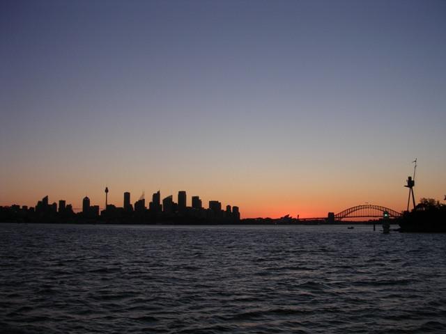 Zdjęcia: Sydney, NSW, Słońce zachodzi nad Sydney, AUSTRALIA