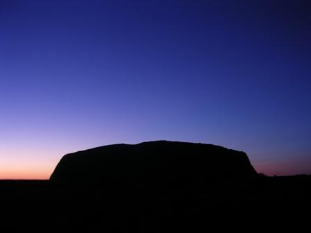 Zdjęcia: Ayers Rock, Norther Teritory, Ayers Rock o wschodzie słońca, AUSTRALIA
