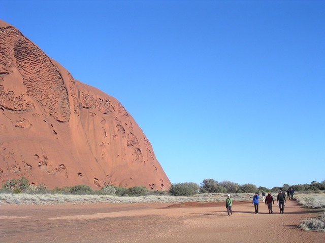 Zdjęcia: Ayers Rock, Norther Teritory, Spacer wokół Ayers Rock, AUSTRALIA