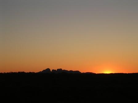 Zdjęcia: Olgas, Northern Teritory, Olgas po zachodzie słońca, AUSTRALIA
