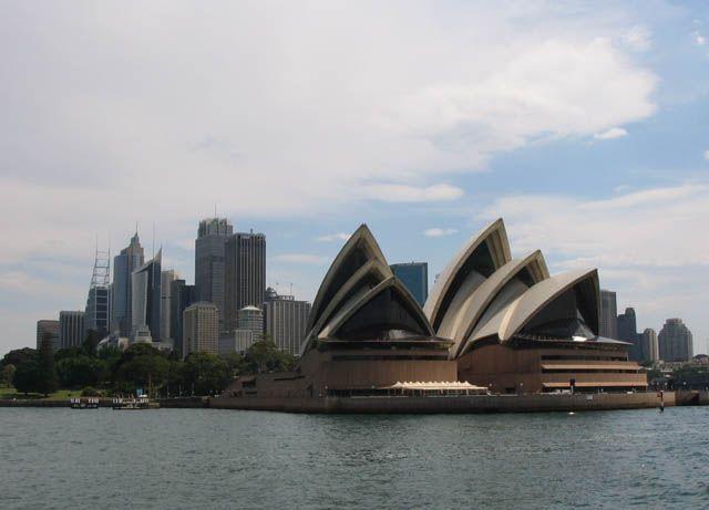 Zdjęcia: Sydney, opera widok z zatoki, AUSTRALIA
