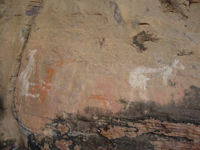 Zdjęcia: Nourlangie Rock, Kakadu NP , Starożytne petroglify, AUSTRALIA