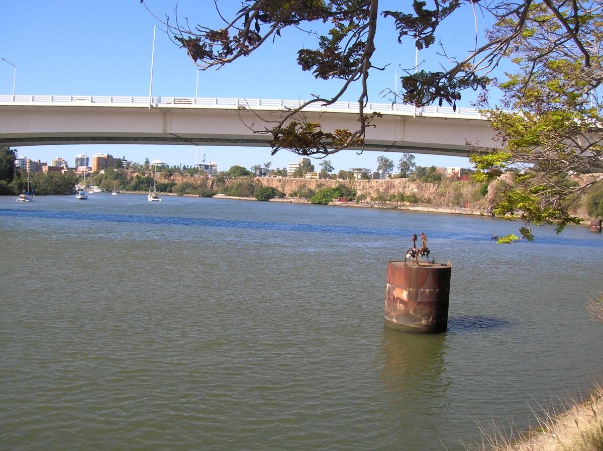 Zdjęcia: Brisbane, Qld, Rzeka Brisbane i widok na klify , AUSTRALIA