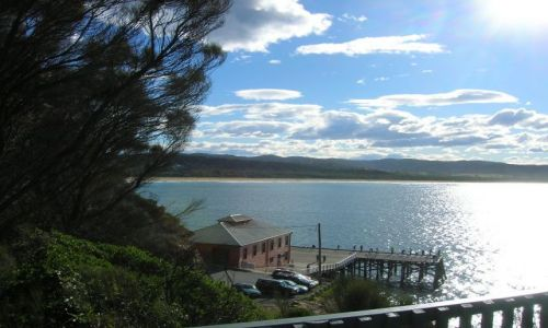 Zdjęcie AUSTRALIA / NSW / Tathra beach / Widok na ocean o zmierzchu