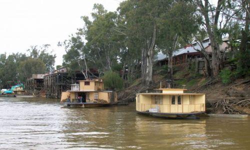 Zdjecie AUSTRALIA / Vic. i NSW / Echuca / Domy na wodzie