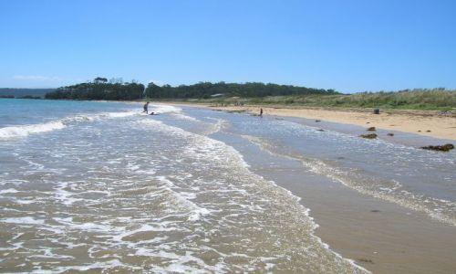 Zdjecie AUSTRALIA / NSW / Molonglo Bay / pacyfic Ocean, plaza i fale