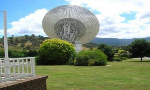 Zdjęcie AUSTRALIA / ACT / Tidbinbilla tracking station / Pierwszy glos z ksiezyca.