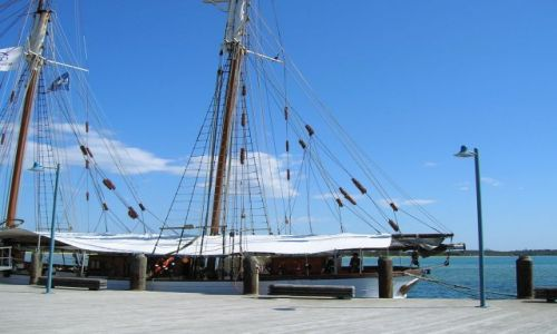 Zdjecie AUSTRALIA / NSW / port Macquarie / Zabytkowy statek