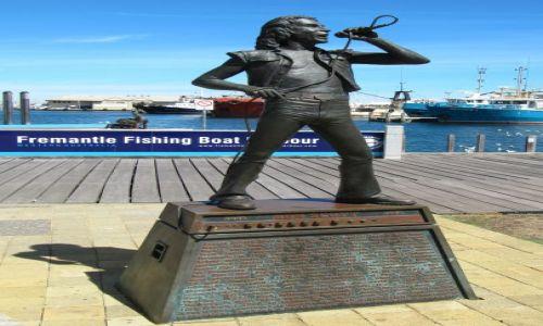 Zdjęcie AUSTRALIA / Fremantle / nadbrzeże / pomnik Scotta