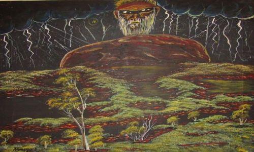 Zdjęcie AUSTRALIA / Kalgoorlie / muzeum / sztuka aborygeńska 1