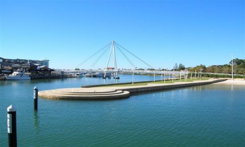 Zdjęcie AUSTRALIA / Zach.Australia / Mandurah marina / Mandurah-most na Marina