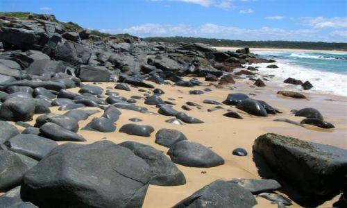 Zdjęcie AUSTRALIA / NSW / South Coast / Plaza czrnych kamieni..