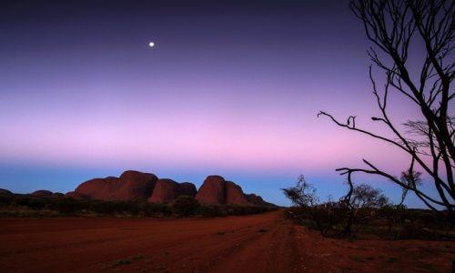 Zdjęcie AUSTRALIA / Northern Territory / Red Centre / Olgas po zachodzie