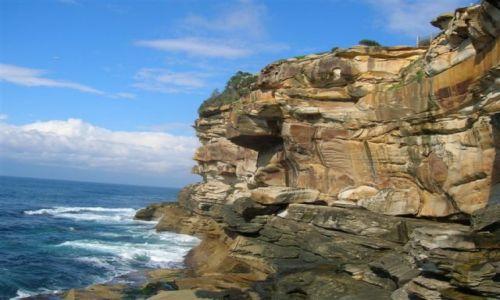 Zdjecie AUSTRALIA / NSW / Sydney / Skaly nad oceanem..