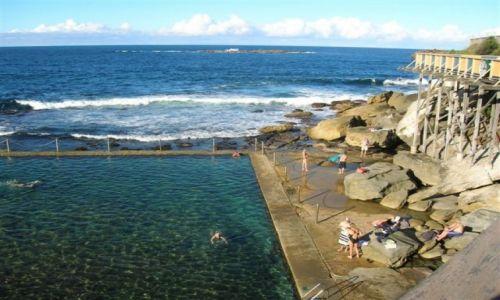 Zdjecie AUSTRALIA / Sydney / Bronte-dzielnica Sydney. / Basen w skalach..