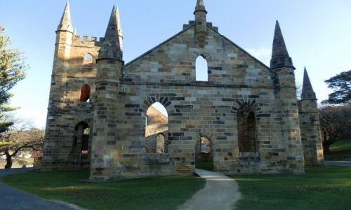 Zdjecie AUSTRALIA / Tasmania / Potr Arthur / Ruiny kościoła w Port Arthur