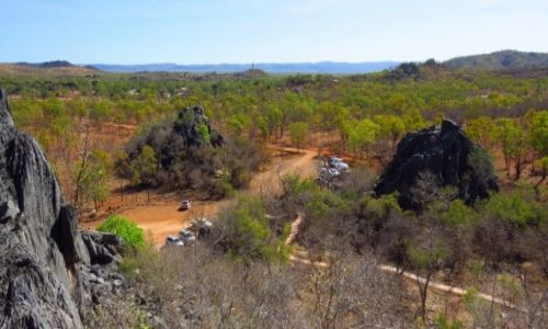 AUSTRALIA / Queensland / Chillagoe caves Nat. Park / Dawne dno oceanu