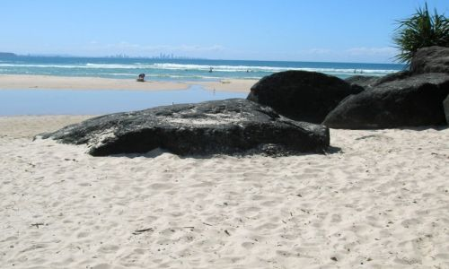 Zdjecie AUSTRALIA / Queensland / Coolangatta / Kapiele w ocean