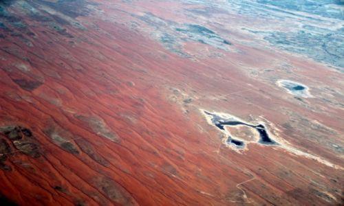 Zdjecie AUSTRALIA / Gdzieś nad sercem kontynentu  / Gdzieś nad sercem kontynentu  / ... z lotu ptak
