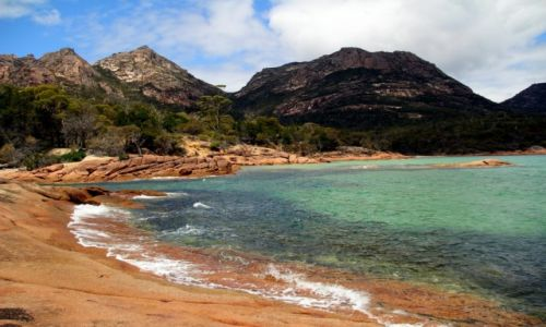 Zdjecie AUSTRALIA / Tasmania / honeymoon bay  / Tasmania w s�on